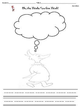 Oh The Thinks You Can Think- Dr Seuss- cvc- rhyming words- creative writing