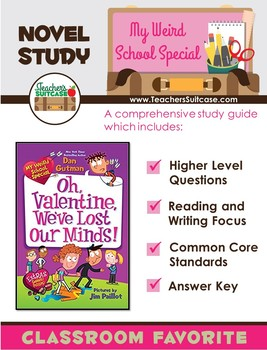My Weird School Special: Oh, Valentine, We've Lost Our Minds! {Novel Study}