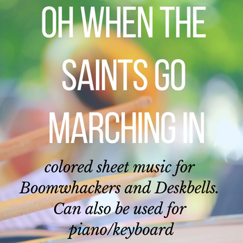 Oh When The Saints (Free Colored Sheet Music)