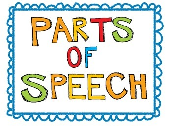 Oh Yeah! Parts of Speech Posters
