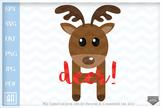 Oh deer Svg - Reindeer Cut Files - Christmas deer SVG file, Winter clipart