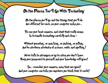 Oh the Places You'll Go w/ Tech - Dr. Seuss Digital Citizenship (landscape)