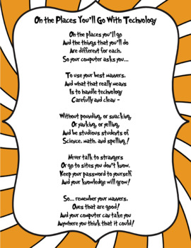 Oh the Places You'll Go with Technology - Dr. Seuss Digital Citizenship