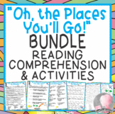 Oh the Places You'll Go BUNDLE Book Study, Comprehension, Quizzes, Activities