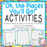 Oh the Places You'll Go Dr. Seuss Activities Crossword Puzzle Word Searches