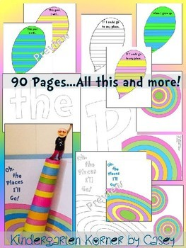 Oh, the Places You'll Go Dr. Seuss Inspired Bulletin Board Writing 3D Craft