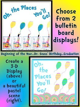 Oh, the Places They'll Go Bulletin Board Writing 3D Craft Beginning of Year
