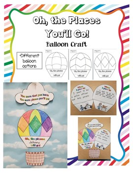 Oh the Places You'll Go! Hot Air Balloon Craft