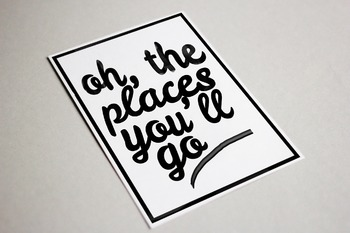 Oh the Places You'll Go Wall Art 11x14, 8x10 Printable