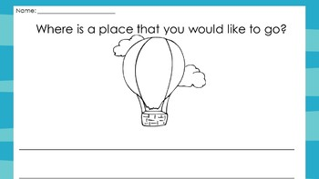 graphic relating to Oh the Places You Ll Go Balloon Printable Template called Oh The Spots Youll Transfer Producing Recommended Worksheets Education