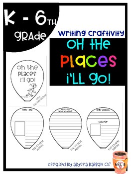 Oh the Places You'll Go Writing and Craftivity