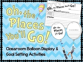 Oh, the Places You'll Go - Goal Setting Activity by Sunshine On a ...