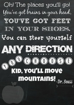 Oh the Places You'll Go-Dr. Seuss poster