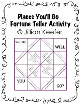 Places You'll Go-Fortune Teller Writing Activity