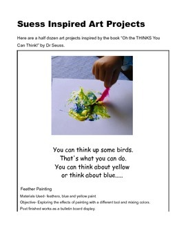 "Dr Seuss ""Oh the Thinks You Can Think"" Extention Ideas Activity Guide"