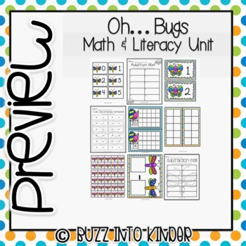 Oh....Bugs! Literacy and Math Centers