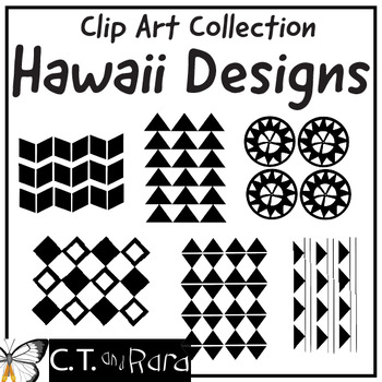 Ohe Kapala  Traditional Hawaiian Printmaking Designs Clipart