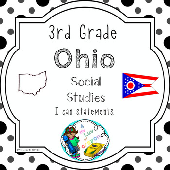 Ohio 3rd Grade Social Studies I can statements