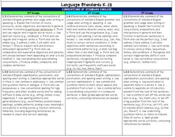 Ohio 4th Grade Language Arts Common Core Quick Reference