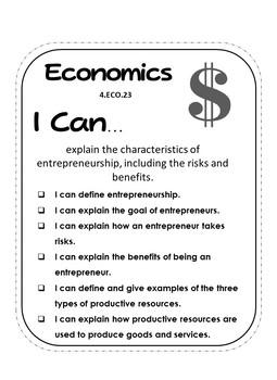 Ohio 4th Grade Social Studies:  Economics and Financial Literacy