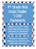 "Ohio 4th Grade Social Studies ""I Can"" Posters"