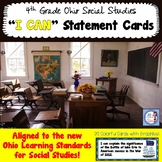 "Ohio 4th Grade Social Studies ""I Can"" Statement Cards"