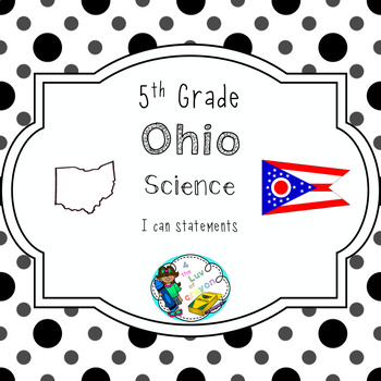 Ohio 5th Grade Science I can statements