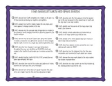Ohio 5th Grade Science Standards I Can Checklists for Inte