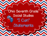"Ohio 7th Grade Social Studies ""I can"" Statement Posters"