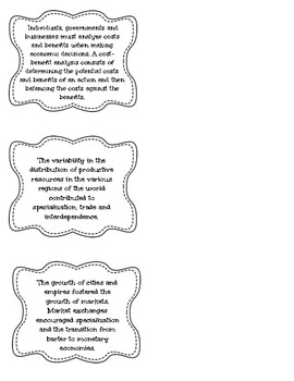 Ohio 7th Grade Social Studies Standard Labels