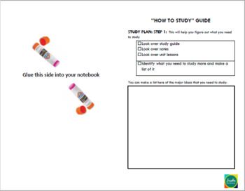 Ohio - 8th Grade - Interactive Notebook Table of Contents by Standard