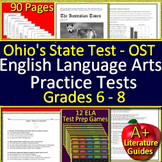 Ohio State Test Prep Practice for English Language Arts + Games BUNDLE OST
