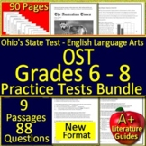 Ohio AIR Test Prep Practice Tests for English Language Arts Grades 5, 6, 7 and 8