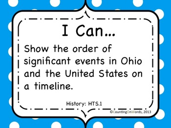 Ohio Academic Content Standards for Social Studies Grade 4: I Can Statements