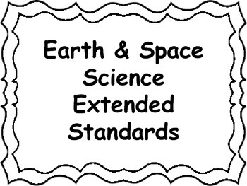 Ohio Academic Extended Standards Science 3-5 I Can Statement Posters