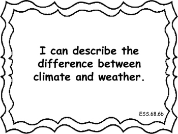 Ohio Academic Extended Standards Science 6-8 I Can Statement Posters