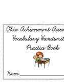 Ohio Achievement Assessment Vocabulary Handwriting Wookbook