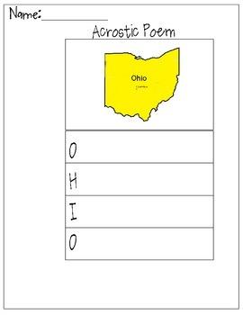 Ohio Acrostic Poem