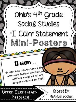 "Ohio & American History ""I Can"" Statements"