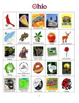 Ohio Bingo:  State Symbols and Popular Sites