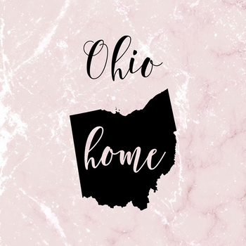 Ohio Clipart, USA State Vector Clipart, Ohio Home, Gold US Clipart