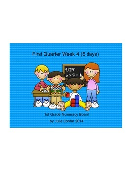 Ohio Common Core 1st Grade Numeracy Board First Quarter, Fourth Week