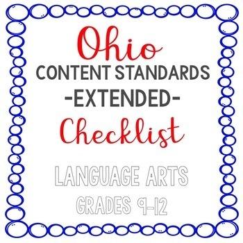 Ohio ELA Extended Standards Checklist Grades 9-12