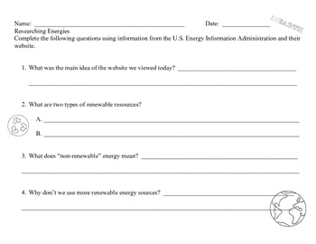 Ohio Earth Science Grade 3:  The Earth's Resources and Energy