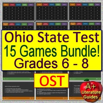 Ohio's State Test (OST) Test Prep  for English Language Arts - 15 ELA Games!