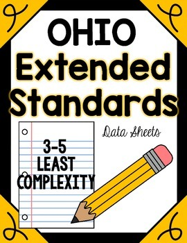 Ohio Extended Content Standards Data Sheets 3-5 LEAST Complexity