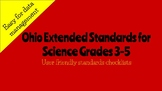 Ohio Extended Standards Grades 3-5 Science Checklist