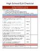 Ohio Extended Standards Grades 9-12 Checklist Bundle