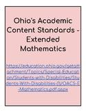 Ohio Extended Standards Grades 9-12 Mathematics Checklist