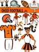 Ohio Football Clip Art {Buckeyes Browns Bengals}
